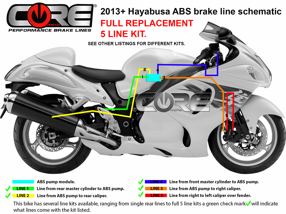 Front Rear Metal Brake Pads For Suzuki Hayabusa GSXR1300 2013-2016