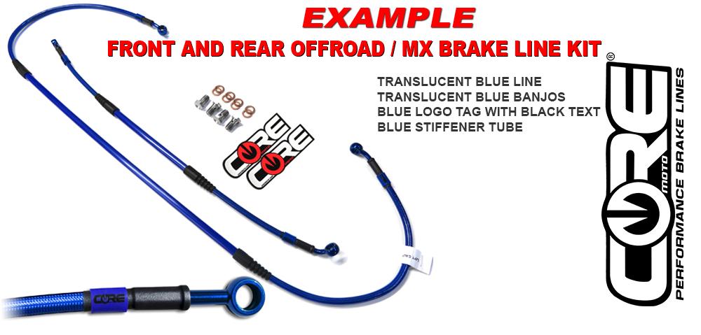 Motorcycle Parts Parts & Accessories Custom Front Brake Line Kit fits 2004 2008 Suzuki RM250 CF0020